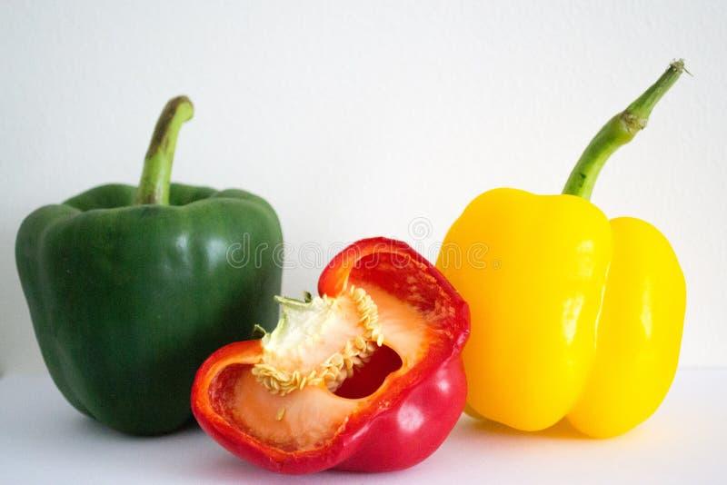 Tricolore-Paprika stockbild