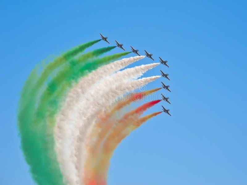 tricolori frecce стоковые изображения rf