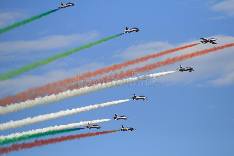 tricolori frecce стоковая фотография