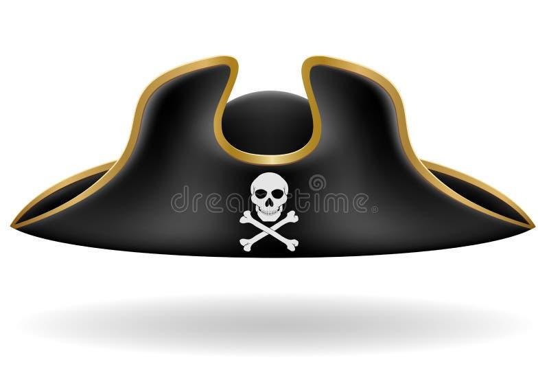 Tricorn Vektorillustration des Piratenhutes lizenzfreie abbildung