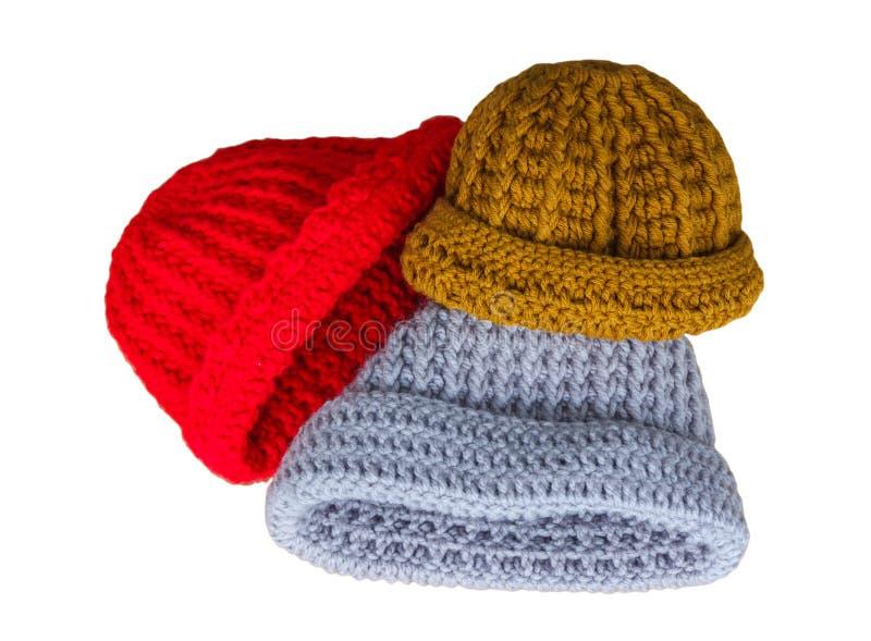 Tricotage de chapeaux fait main photos libres de droits