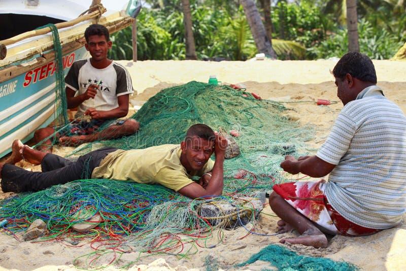 Tricotage de pêcheurs photo libre de droits