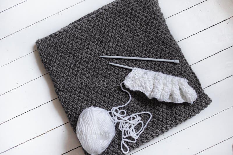 Tricotage tricoté par plaid photographie stock libre de droits
