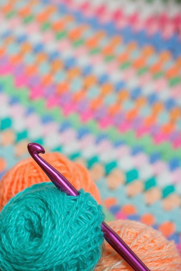 Tricotant, crochet de crochet photo libre de droits