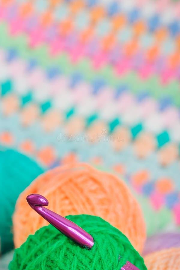 Tricotant, crochet de crochet image libre de droits