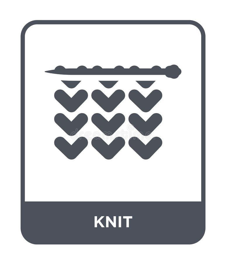 tricotez l'icône dans le style à la mode de conception tricotez l'icône d'isolement sur le fond blanc tricotez le symbole plat si illustration stock