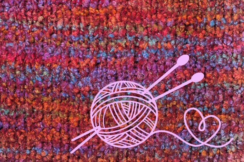 Tricottare di struttura del tessuto della sciarpa o del maglione grande Fondo tricottato del jersey con un modello in rilievo Mac immagine stock libera da diritti