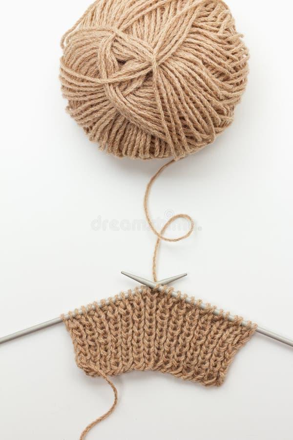 Tricottare lana fotografia stock