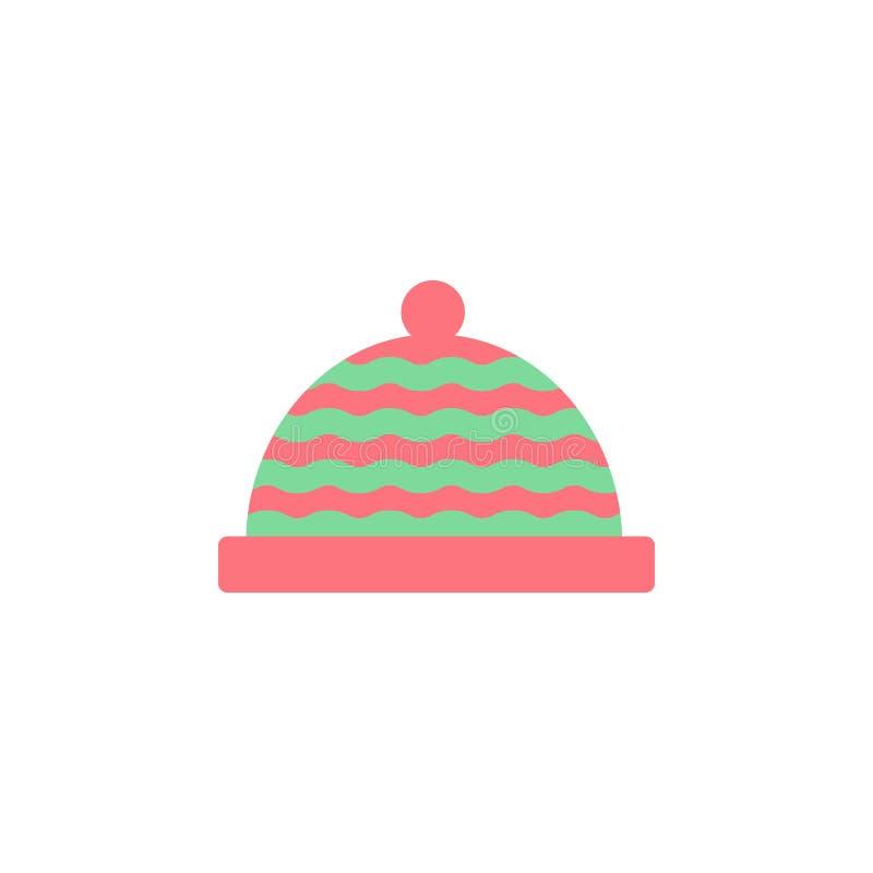 Tricotti l'icona di colore del cappello Elemento dell'icona dei vestiti di colore per i apps mobili di web e di concetto Dettagli illustrazione di stock