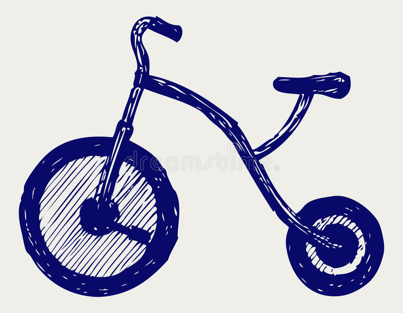 Download Tricycle child stock vector. Image of grunge, design - 28588349