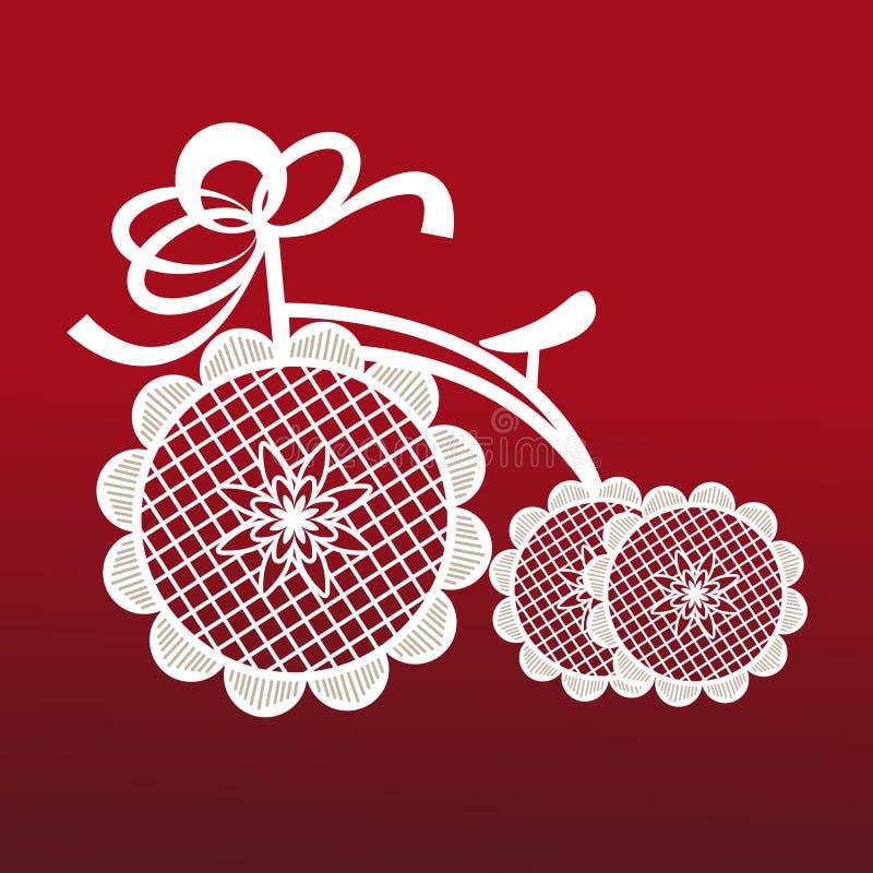 Tricycle décoratif illustration de vecteur