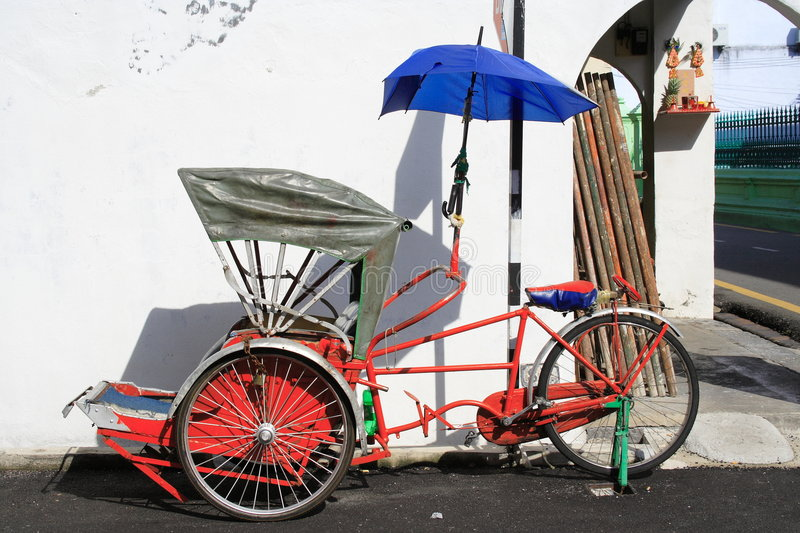 Tricycle de course image stock