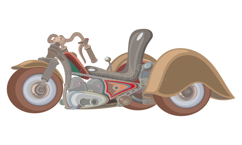 Tricycle for grown kids. Vector cartoon style draving of a three-wwheel bike, a toy for grown kids vector illustration