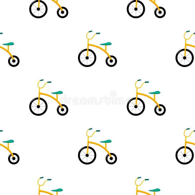 Tricycle icon in cartoon style isolated on white background. Play garden pattern stock vector illustration. vector illustration