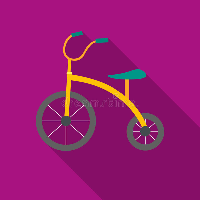 Tricycle icon in flat style isolated on white background. Play garden symbol stock vector illustration. vector illustration