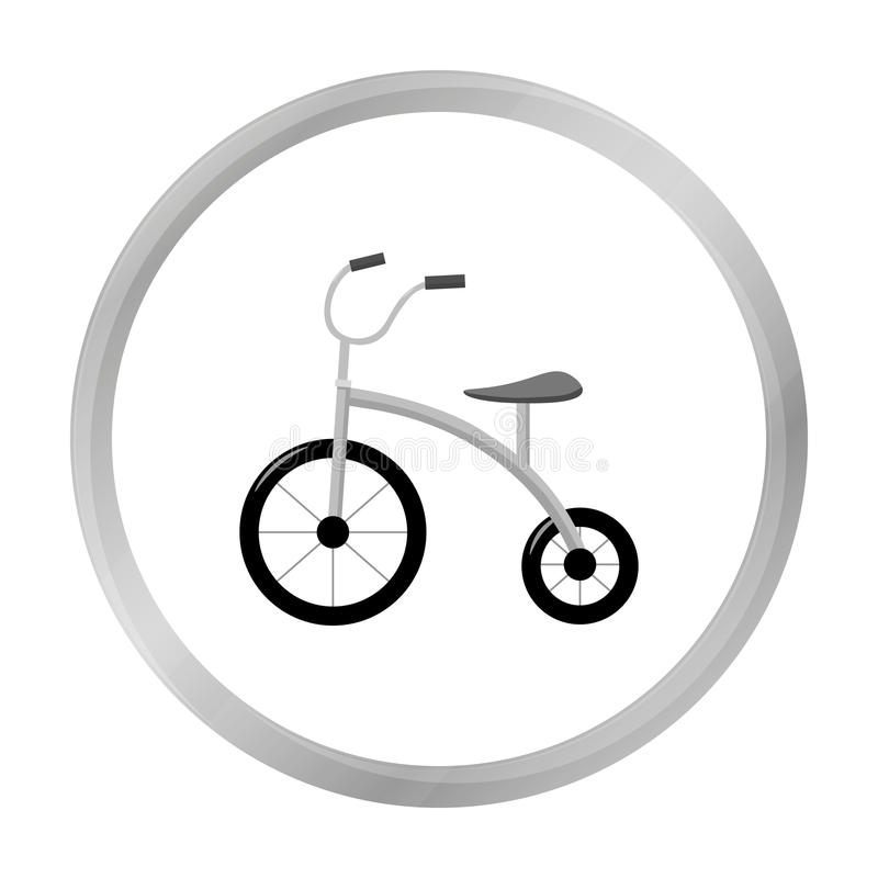 Tricycle icon in monochrome style isolated on white background. Play garden symbol. vector illustration