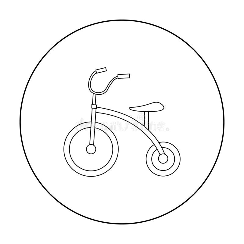 Tricycle icon in outline style isolated on white background. Play garden symbol stock vector illustration. vector illustration