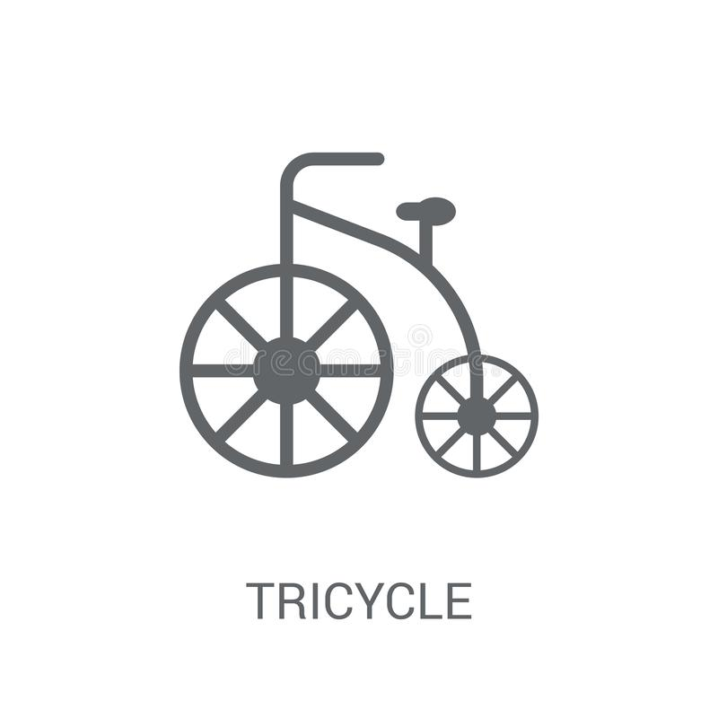 Tricycle icon. Trendy Tricycle logo concept on white background vector illustration