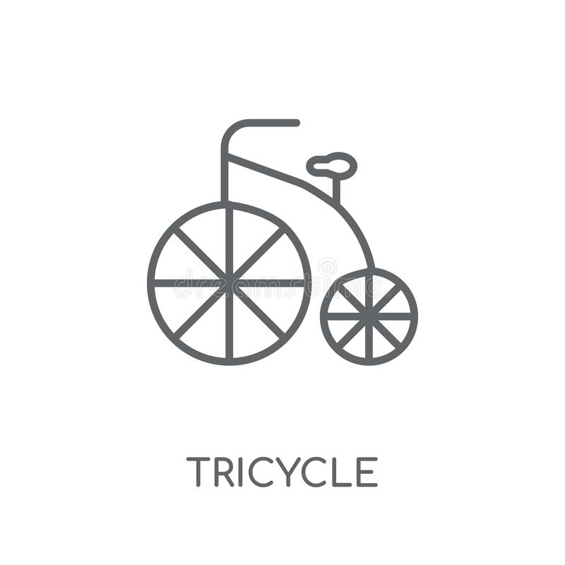 Tricycle linear icon. Modern outline Tricycle logo concept on wh royalty free illustration