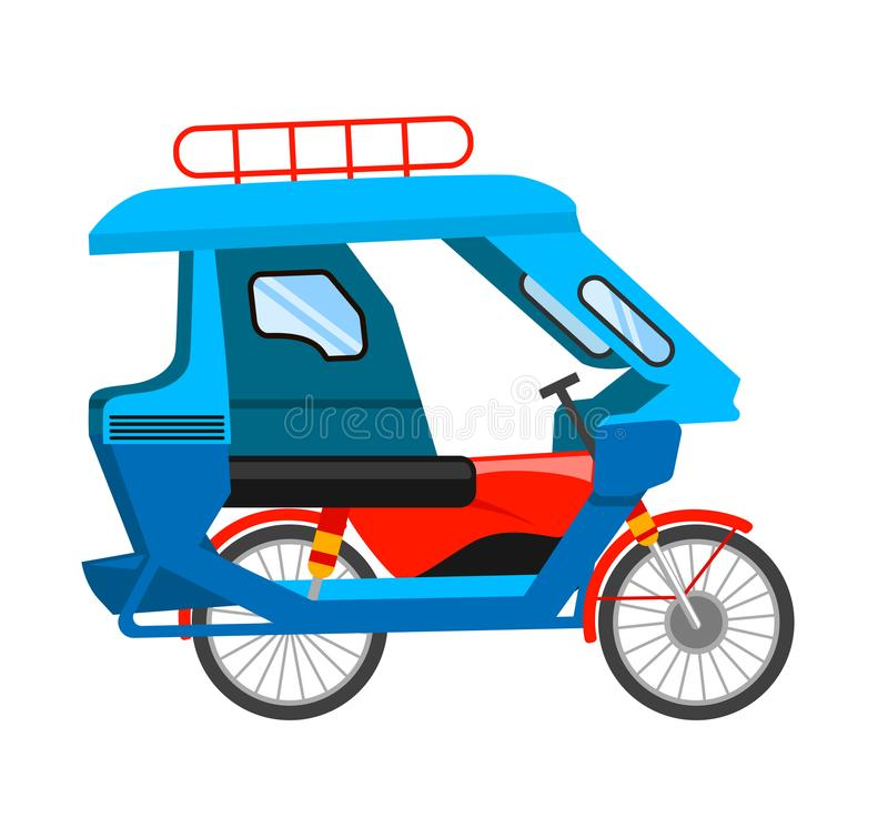 Tricycle motorisé illustration stock