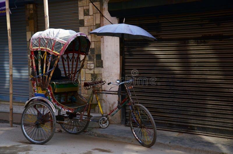 Tricycle Nepal Style at Thamel Kathmandu Nepal stock photos
