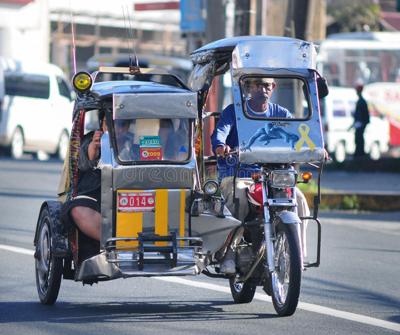 Tricycle on the street, Boracay, Philippines royalty free stock image