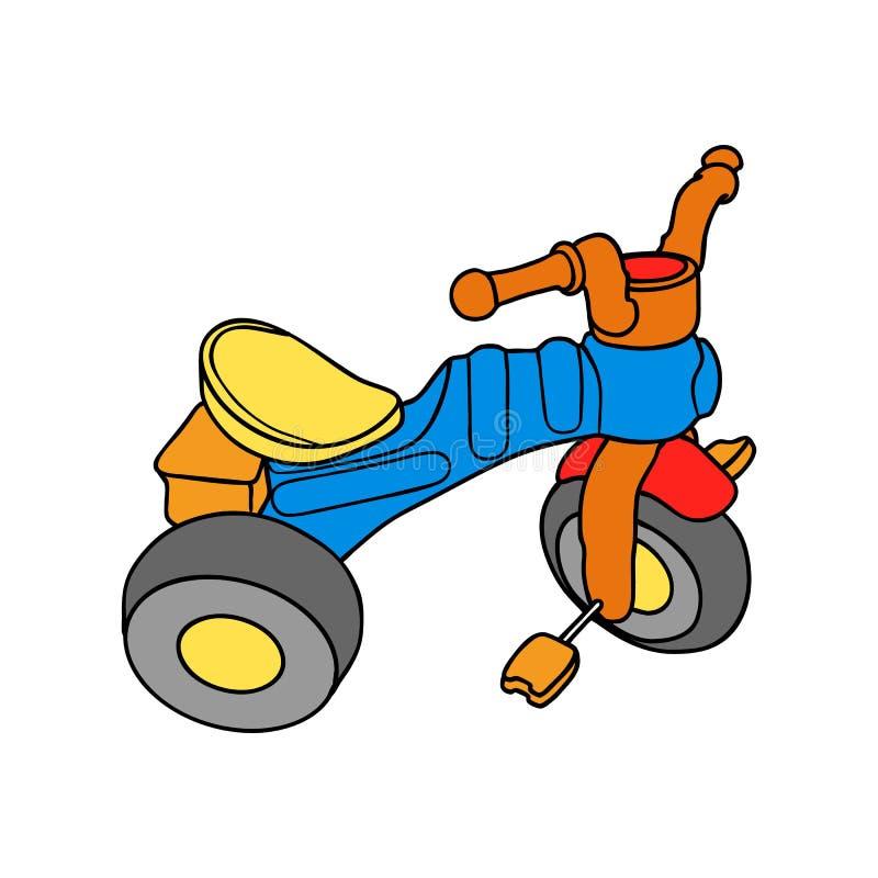 Tricycles colorés images libres de droits