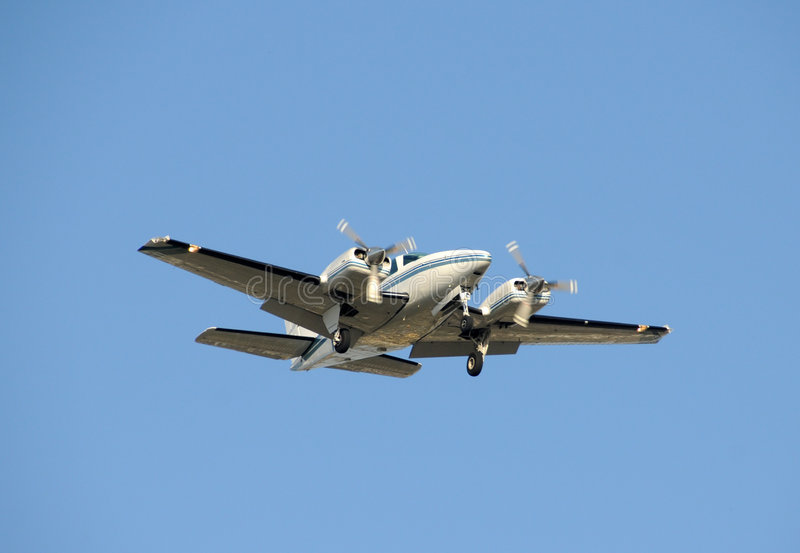 Triebwerkflugzeug stockfotografie