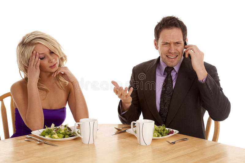 Download Tried of the phone stock photo. Image of lettuce, married - 18824606