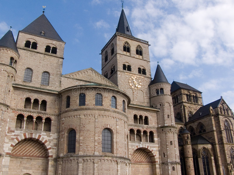 Trier, cattedrale immagine stock