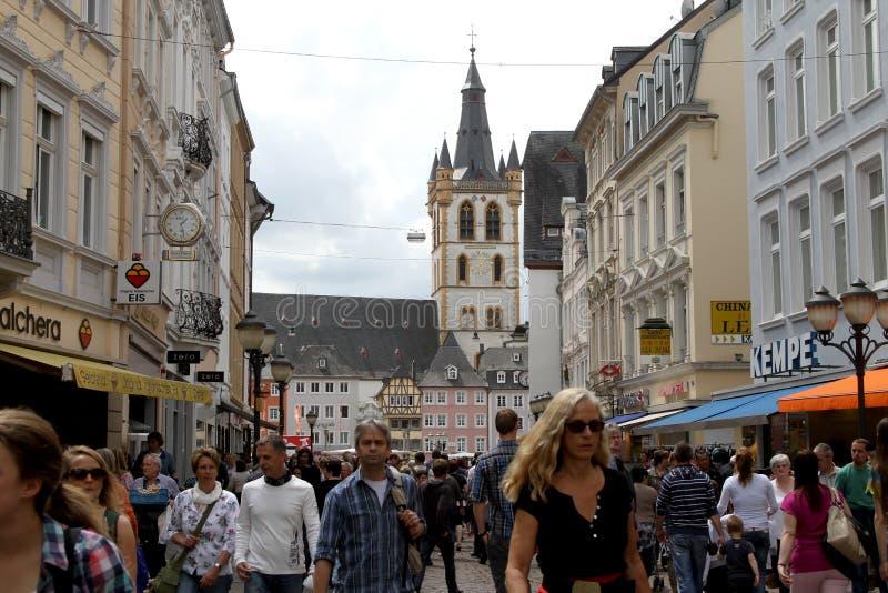 Trier central, Allemagne images libres de droits