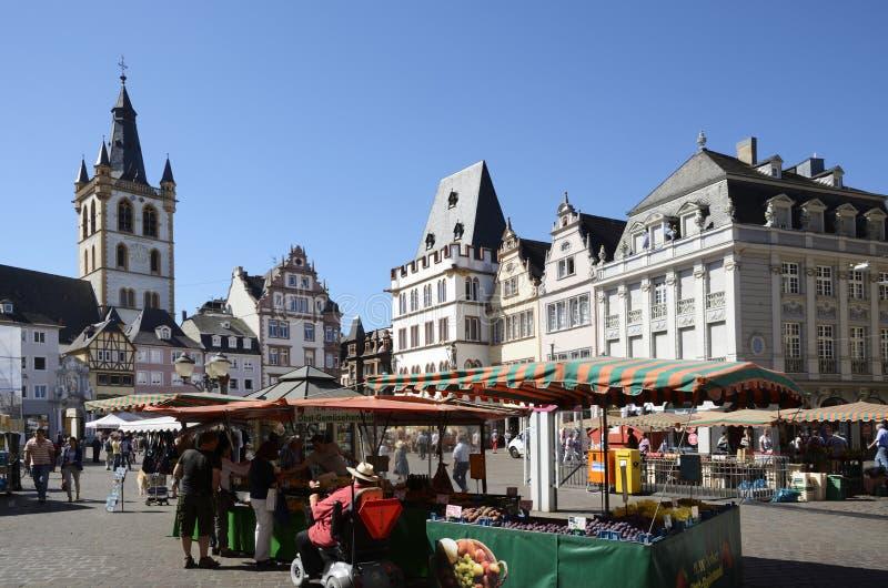 Trier-Marktplatz stockfotografie