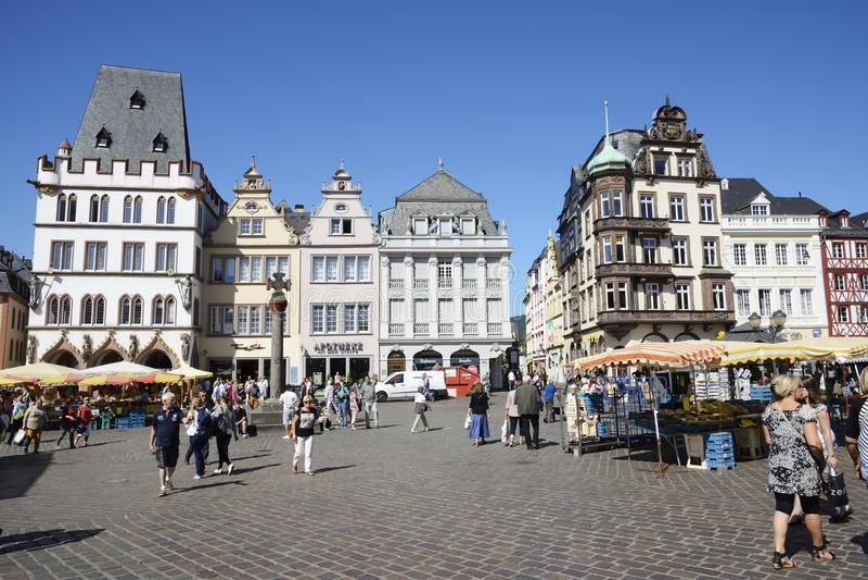 Trier-Marktplatz stockbilder
