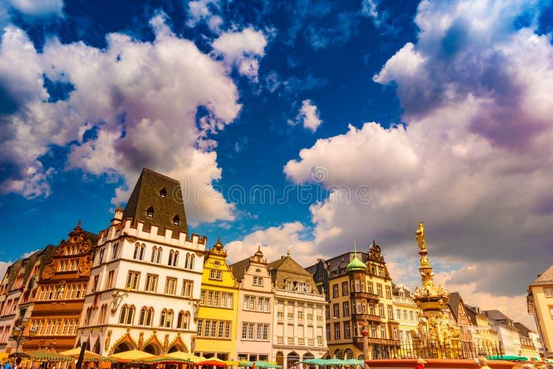 Trier principal Renania Palatinado Alemania del mercado foto de archivo libre de regalías