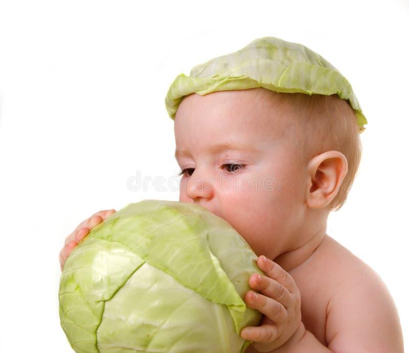 Tries vegetable on taste stock photos