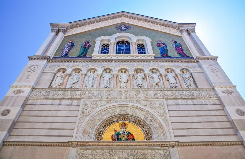 Trieste, as arquiteturas e artes imagens de stock royalty free