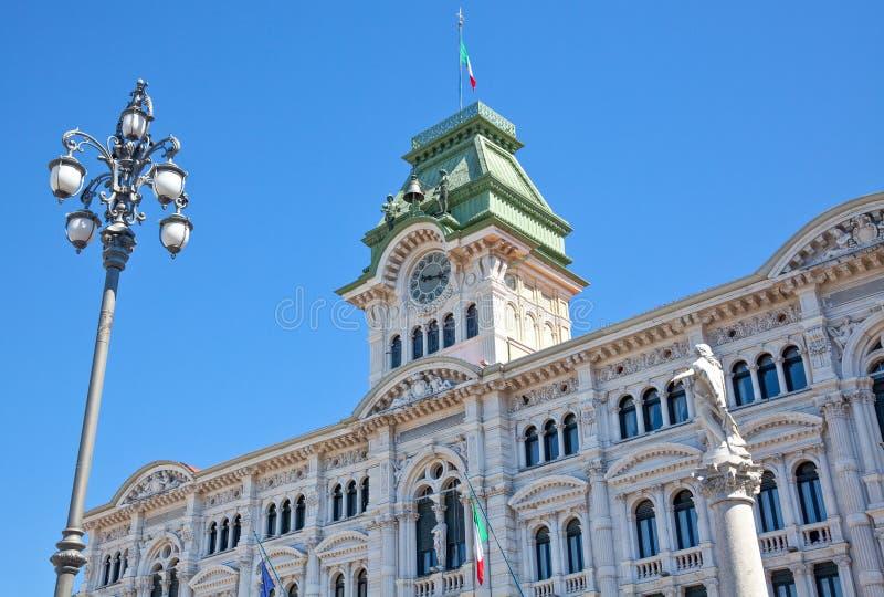 Trieste, as arquiteturas e artes imagens de stock