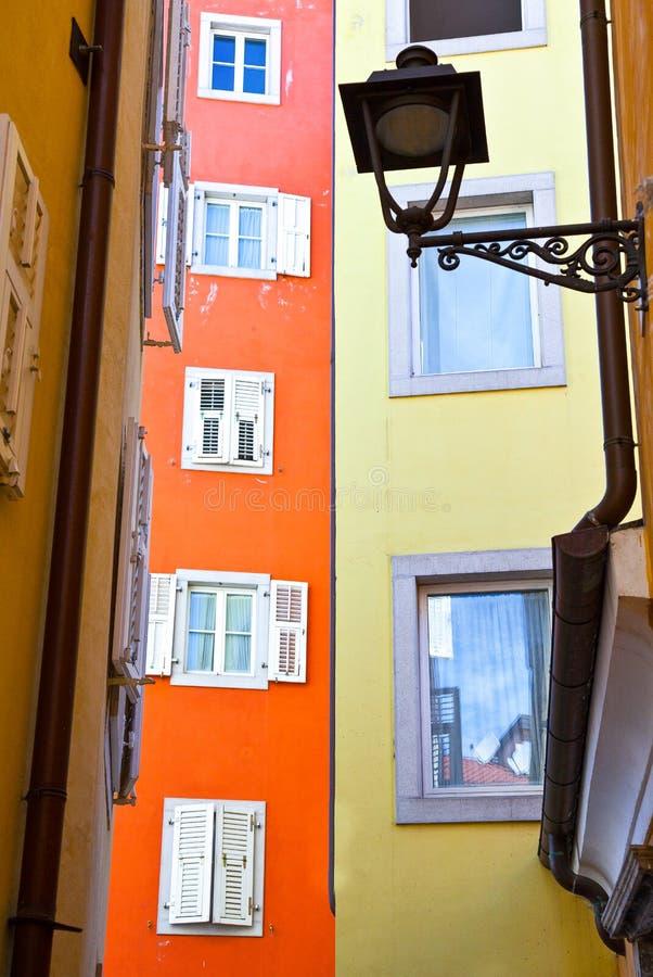 Trieste, as arquiteturas e artes foto de stock