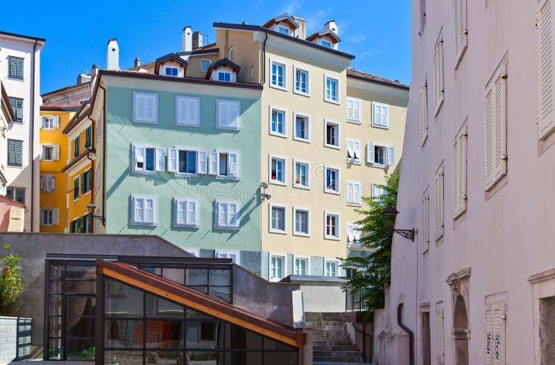 Trieste, as arquiteturas e artes fotografia de stock royalty free