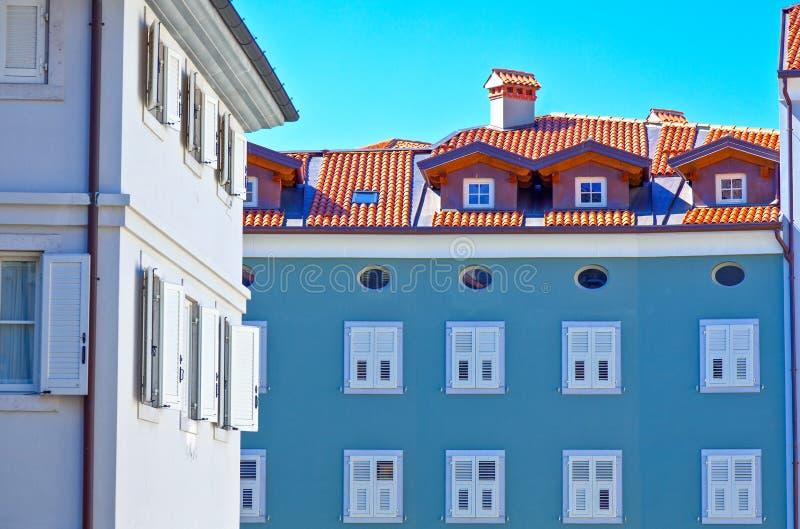 Trieste, as arquiteturas e artes foto de stock royalty free