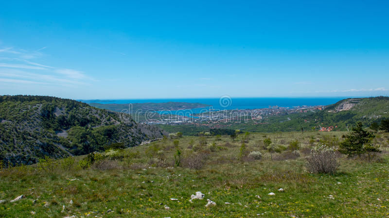 Trieste. The beautiful nature around Trieste Italy stock photo