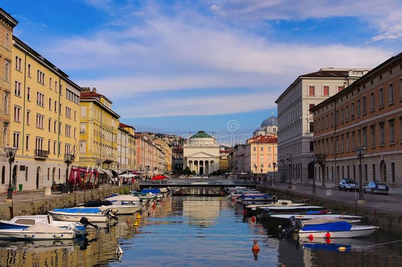 Trieste. The canal in Trieste, Italy stock photos