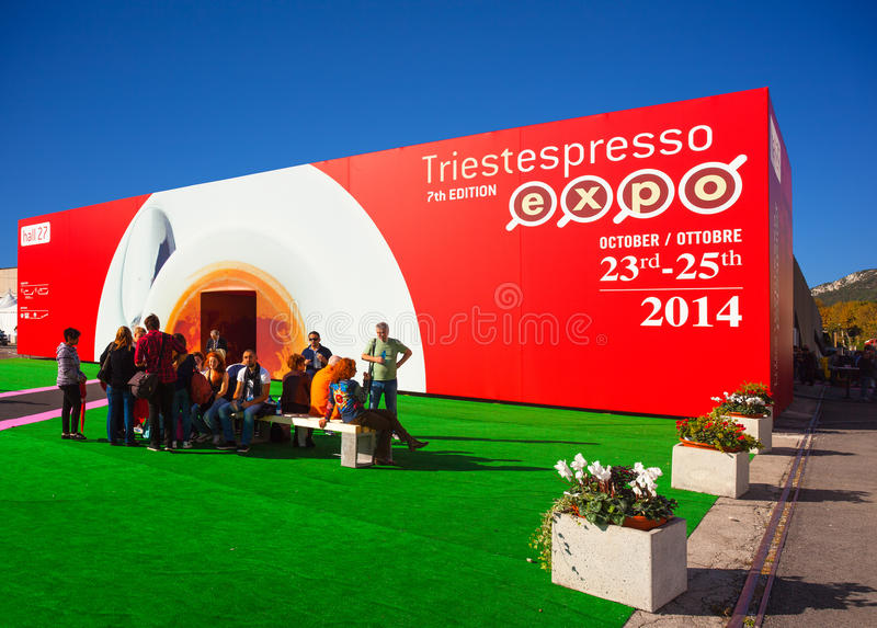 Trieste espresso expo. TRIESTE, ITALY - OCTOBER, 24: 7th edition of Trieste espresso expo, Biennial B2B event covering all sector of the Espresso coffee industry royalty free stock images