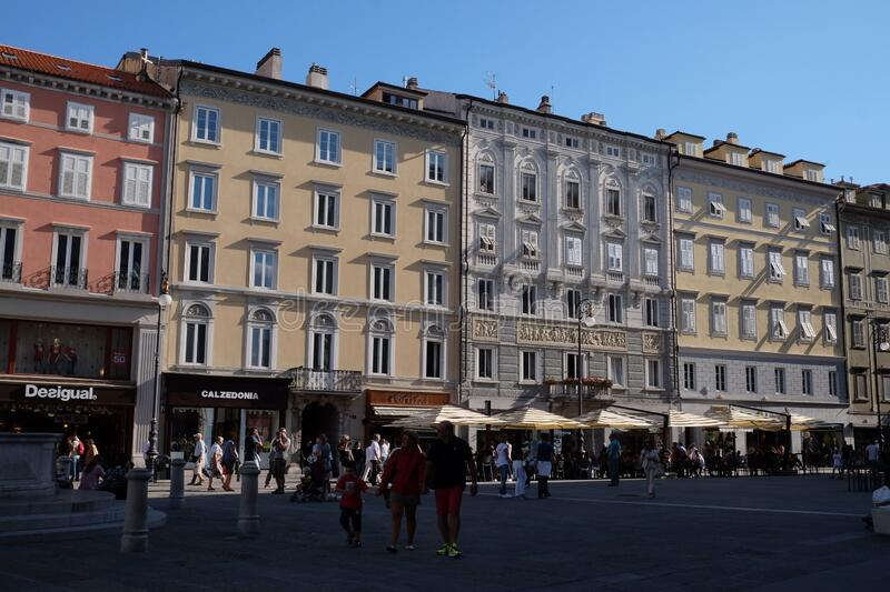 Trieste Historical center. Travel view of Trieste featuring Trieste Historical center. The image location is Friuli in Italy, Europe royalty free stock image