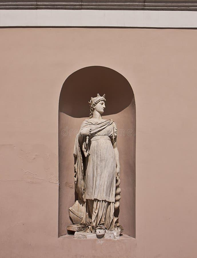 Trieste, Italia - dettaglio architettonico della camera di commercio PA fotografia stock