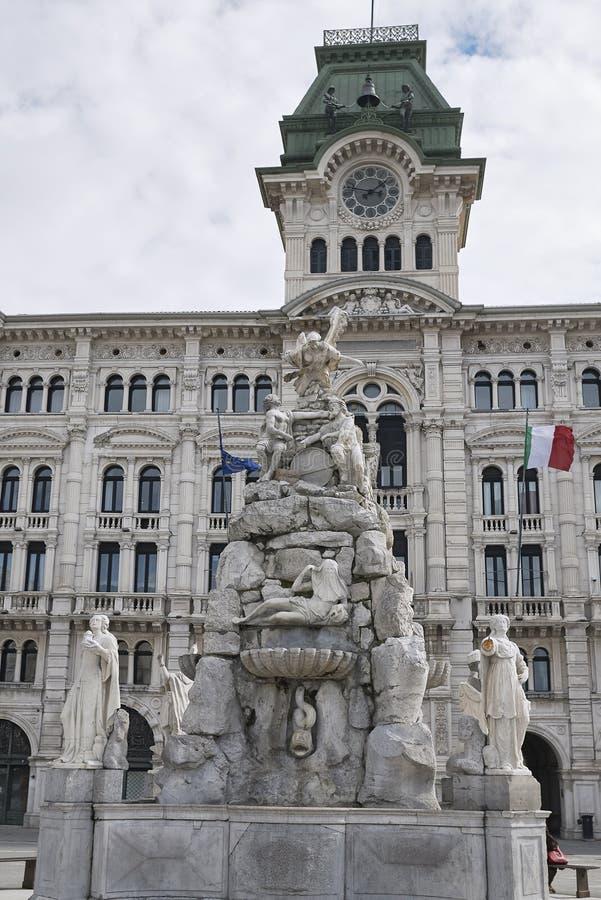 View of Fontana dei Quattro Continenti stock images