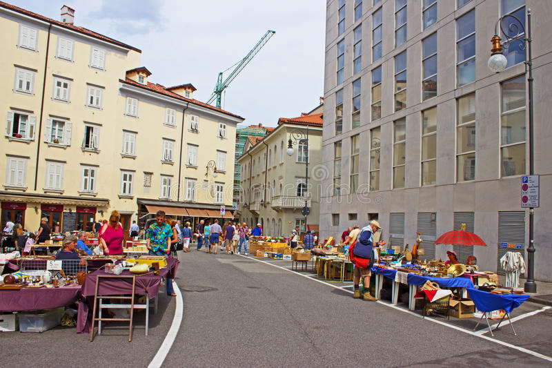 Street Vendors. In Trieste Italy royalty free stock photography
