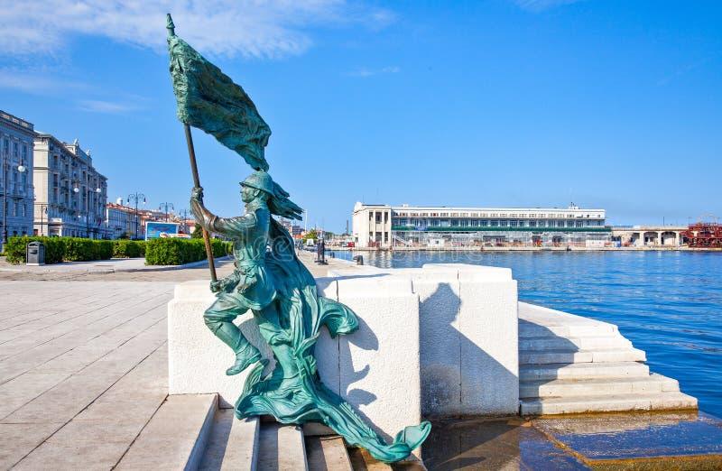 Trieste, las arquitecturas y artes imagen de archivo libre de regalías