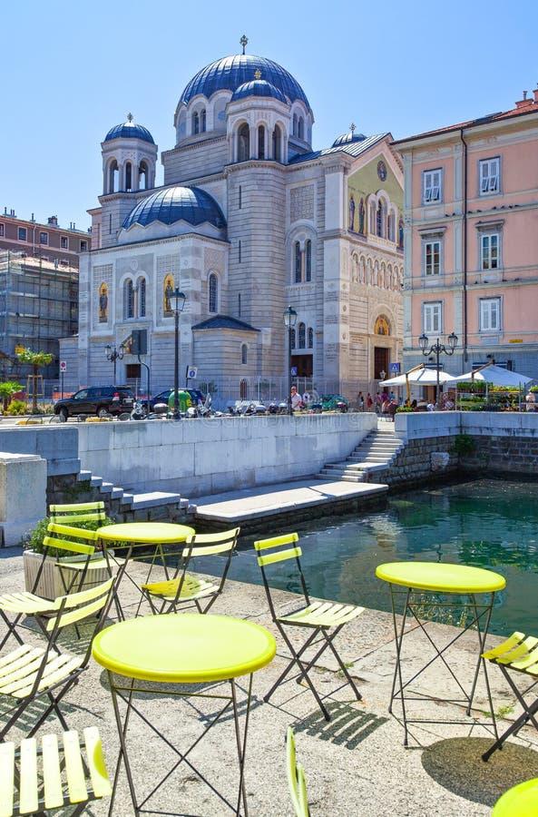 Trieste, las arquitecturas y artes fotografía de archivo