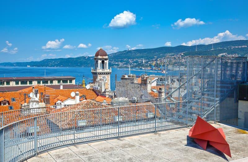 Trieste, las arquitecturas y artes foto de archivo
